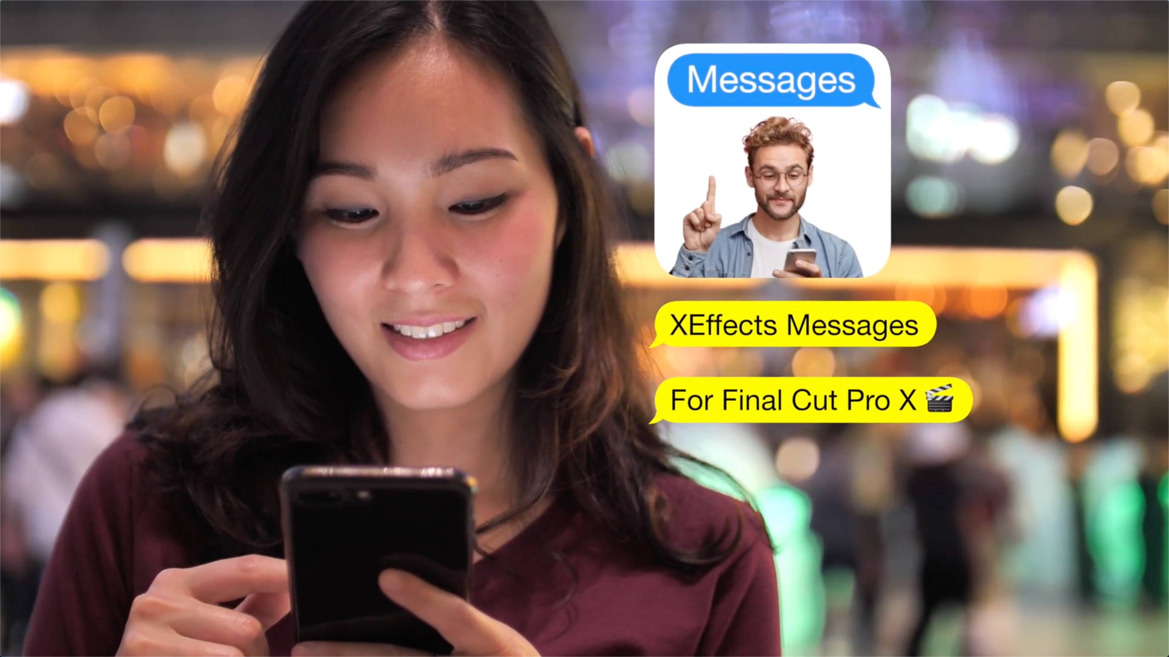 FCPX插件:XEffects Messages(XEffect视频消息模拟)