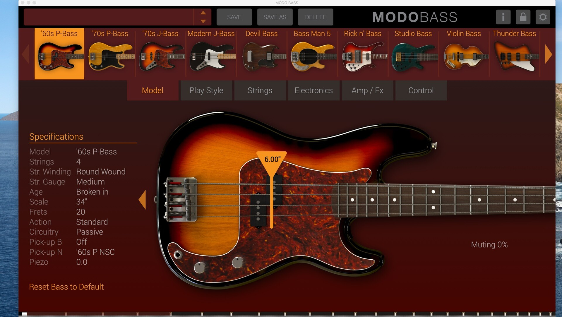 IK Multimedia MODO BASS for mac(低音效果虚拟乐器)